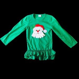 Other - GIRL'S 2T SANTA GREEN, RED AND WHITE TOP